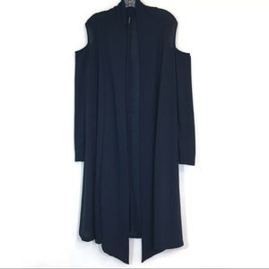 Rags & Couture Cold Shoulder Long Duster Cardigan
